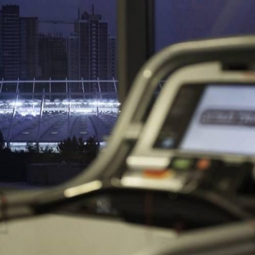 Вид на стадион